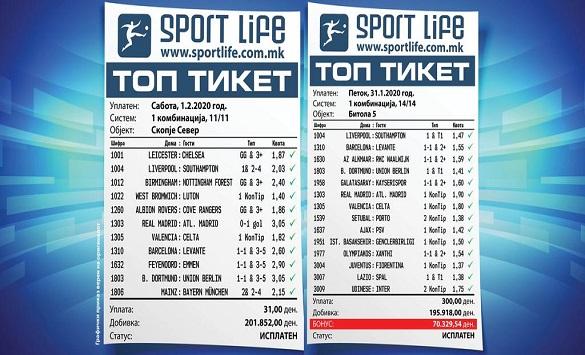 """Слика од Мајсторски тикети викендов го """"олеснија"""" Sport Life"""
