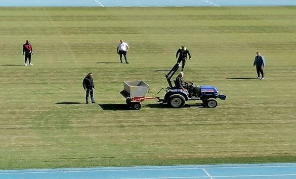 """Слика од Реконструирана тревната површина на Националната Арена """"Тодор Проески"""""""