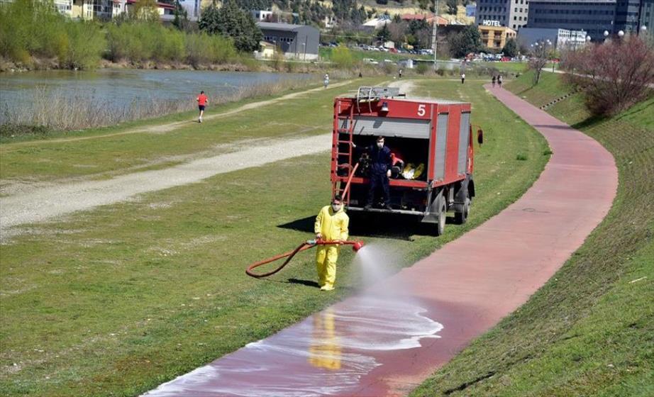 Слика од Дезинфекција на јавни површини во Град Скопје