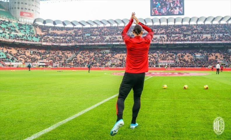 Слика од Ибрахимовиќ започна да тренира, но не со Милан