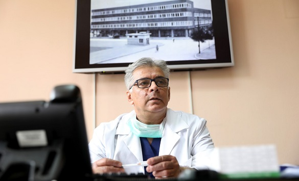 Слика од Арсенков: Од почетокот на епидемијата за два до три пати зголемен бројот на пациенти со ургентна патологија во стара Градска болница
