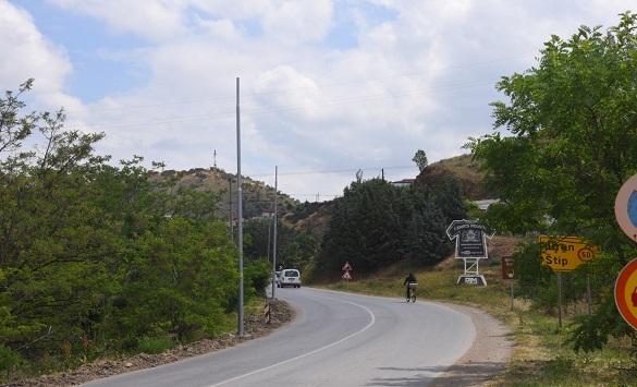 Слика од Се осветлува влезот и излезот на Штип кон Радовиш и Струмица