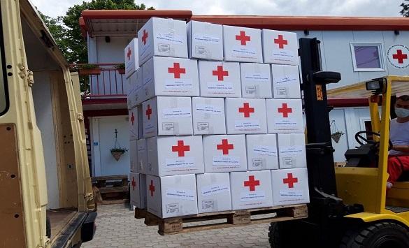 Слика од Дистрибуција на хуманитарни пакети за 555 семејства од ранливите групи донирани од Империал Тобако ТКС Скопје