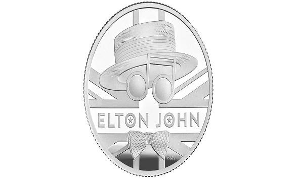 Слика од Монета во чест на сер Елтон Џон