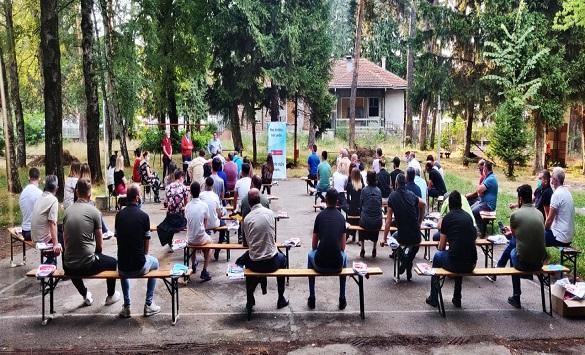 Слика од ТХП на предизборна кампања во Кичево