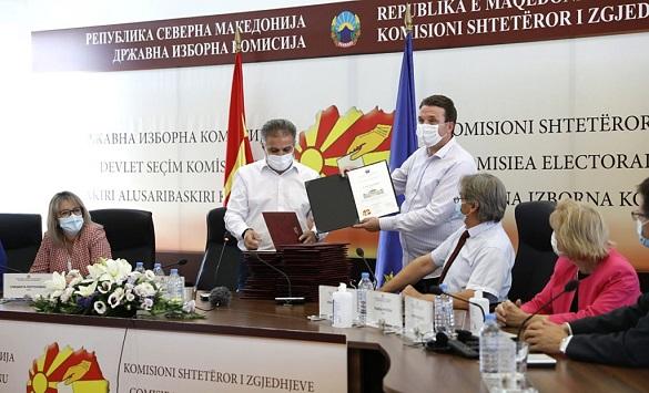 Слика од ДИК ги врачи уверенијата за претеници, не ги подигнаа само ДПА, Алијанса за Албанците и Левица