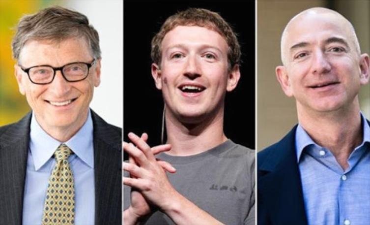 Слика од Безос, Маск, Закерберг и Гејтс заедно изгубија 25 милијарди долари