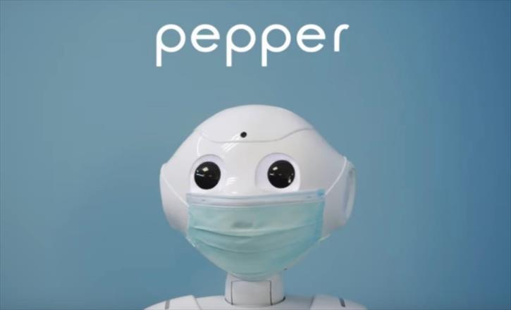 """Слика од Роботот """"Пепер"""" нѐ потсетува да носиме заштитни маски (Видео)"""