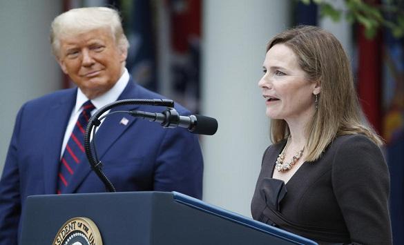 Слика од Трамп ја именува Ејми Кони Барет за нов судија во Врховниот суд на САД