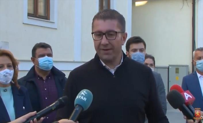 Слика од Мицкоски: Борбата за Македонија ќе почне од локалните избори во Штип