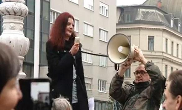 Слика од Протест во Загреб против новите епидемиолошки мерки