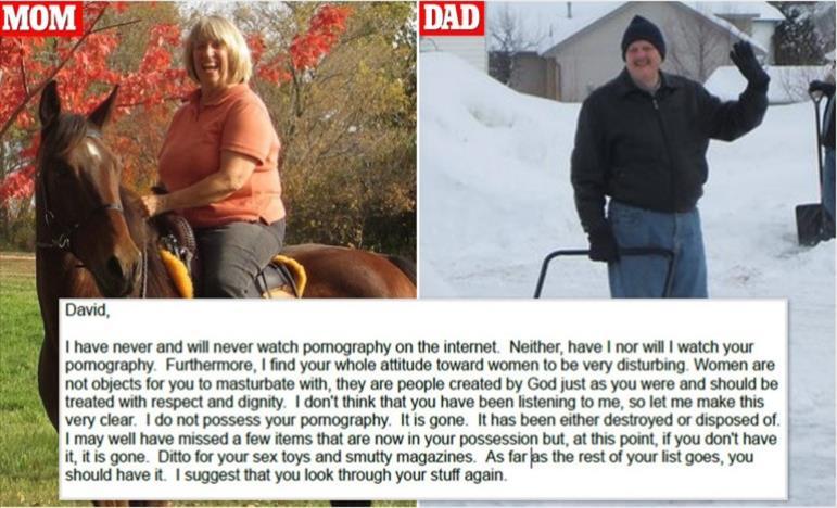 Слика од Родителите му плаќаат на синот надомест за уништување на неговите порно филмови