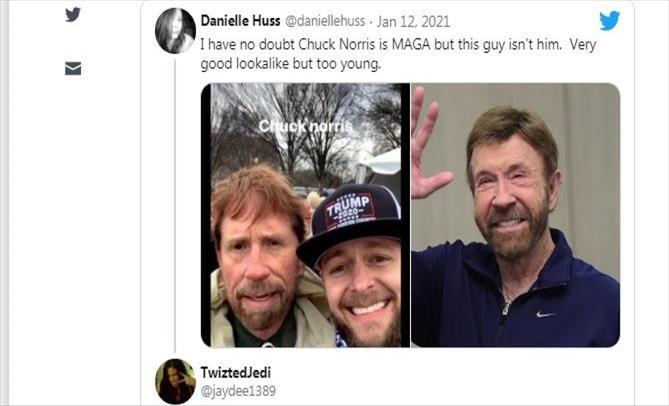 Слика од Двојник на Чак Норис кај Капитол стана хит на интернет