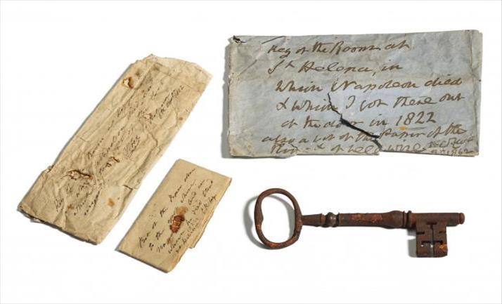 Слика од Клучот од занданата во која починал Наполеон, продаден за 92.000 евра