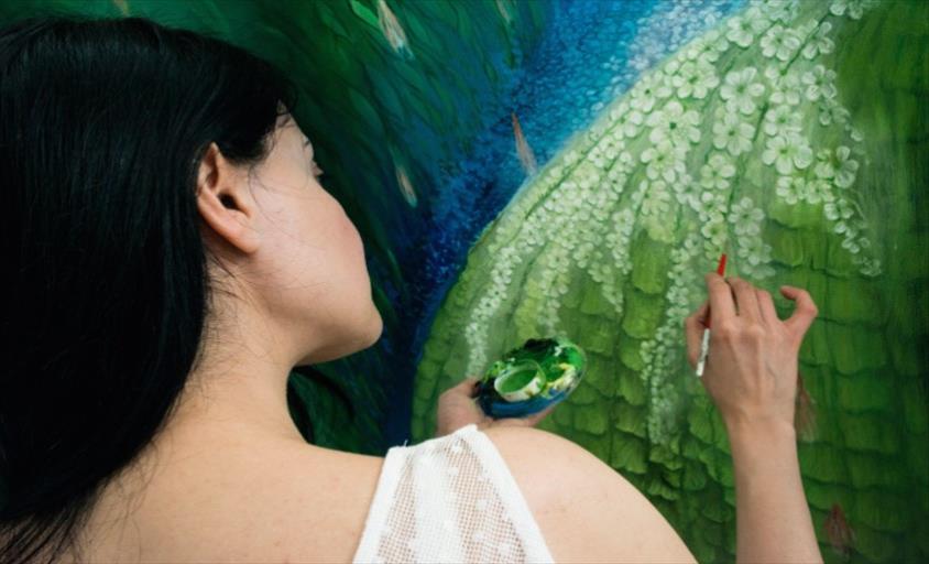 Слика од Убавините на Струга инспирација за уметницата Лида од Малта