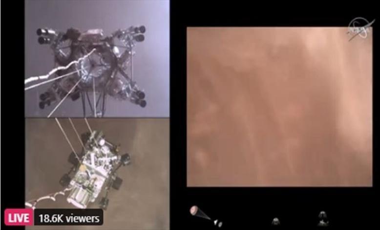 Слика од НАСА објави видео од слетувањето на Марс