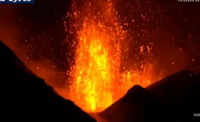 Слика од (Видео) Спектакуларни фонтани од лава во ерупција на Етна
