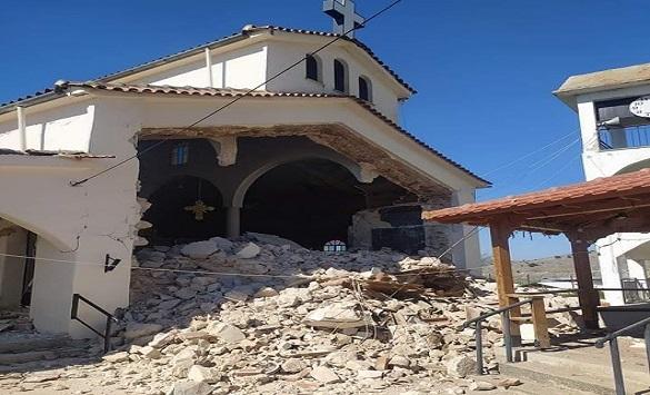Слика од Материјална штета по земјотресот од 6,2 степени по Рихтер во Грција