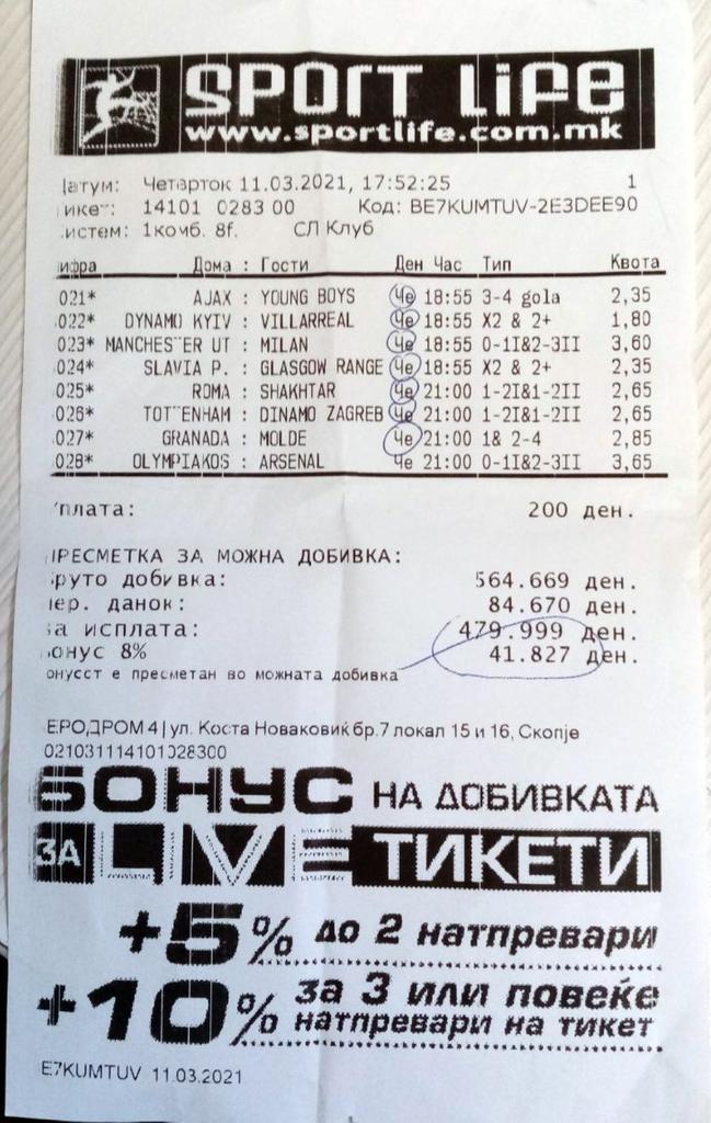(Фото) Неверојатен ден за прогнозерите во Sport Life: Две добивки од 10.000 евра со Лаки бонусот