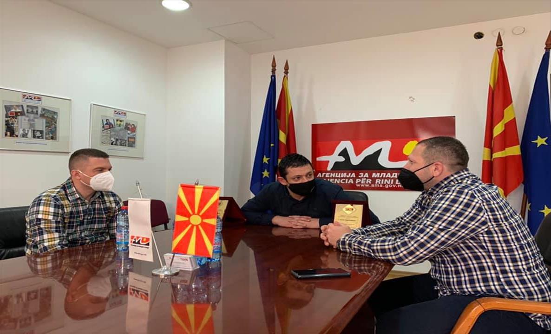 Слика од Најдобрата македонска ракометна судиска двојка на прием во АМС