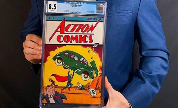 Слика од Првиот стрип за Супермен чинел 10 центи, а сега е продаден за 3,25 милиони долари