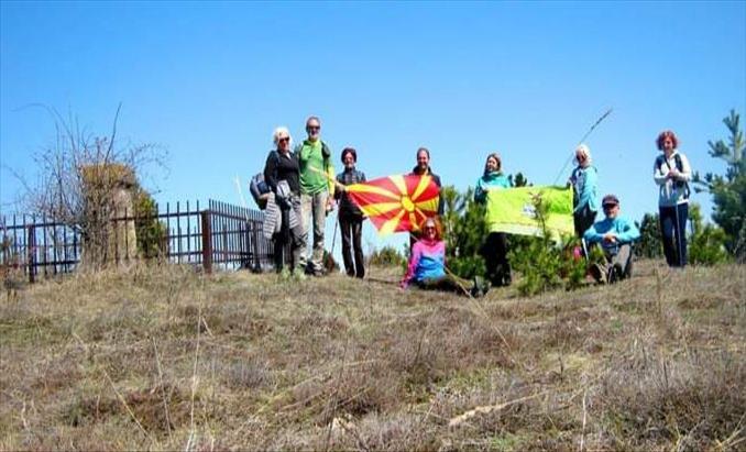 Слика од Во Делчево реализиран планинарски марш до месноста Борова Могила