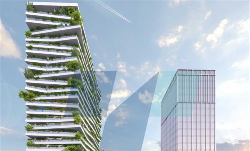 Слика од Зградата кај Холидеј Ин ќе биде со 400 станови за околу 1.200 до 1.300 луѓе, вели архитектот на истата Пановски