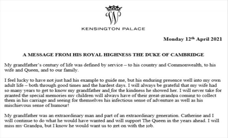 Слика од Принцовите Вилијам и Хари му оддадоа почит на нивниот дедо, принцот Филип