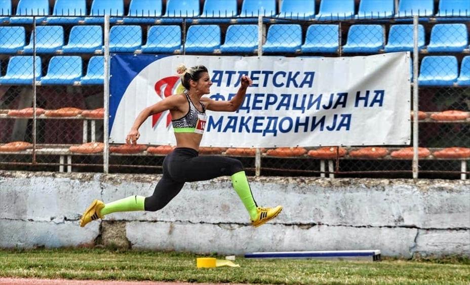 Слика од Кумановката Матеја Ефремовска не се штеди себе си и вложува во атлетиката