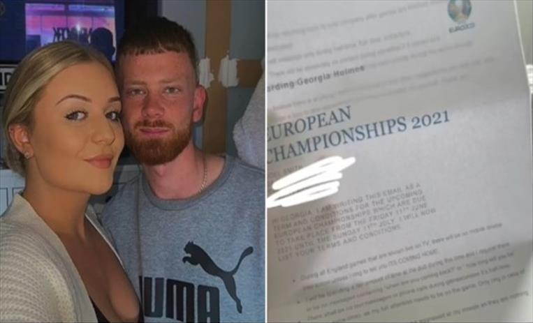 """Слика од Британец ѝ понудил """"претфудбалски договор"""" на девојката"""