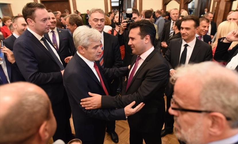 Слика од Заев: Со колегата Ахмети не сме разговарале за химната и знамето, туку за економијата и зелената агенда