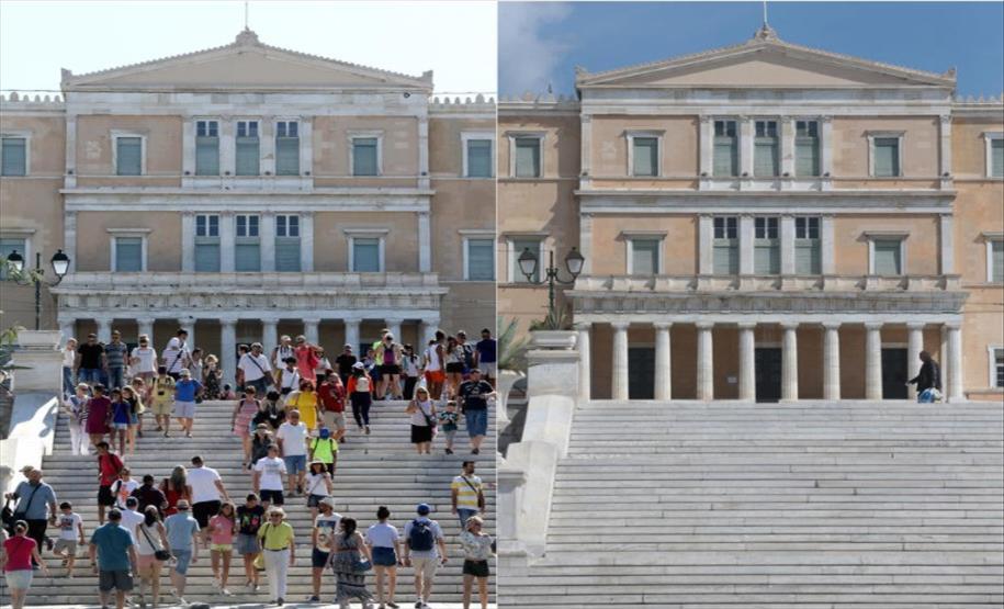Слика од Грција од утре го укинува задолжителното носење маски на отворено