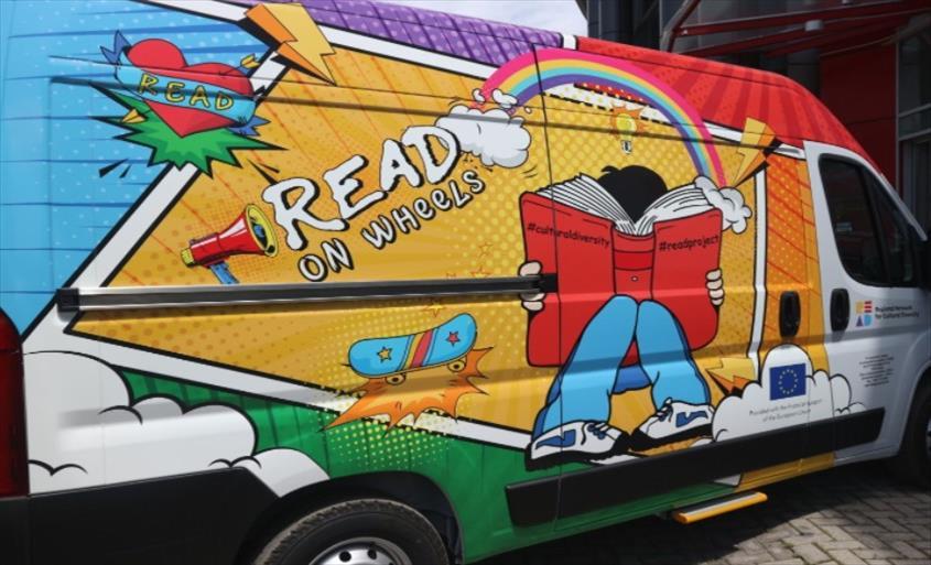"""Слика од Мобилната библиотека """"READ on wheels"""" ќе ја почне својата турнеја во Теарце"""