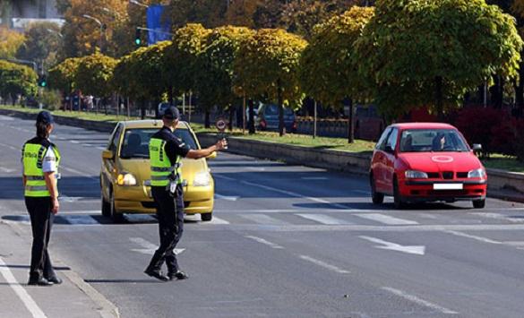 Слика од 131 санкционирани возачи во Скопје