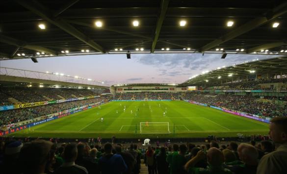 Слика од УЕФА: Суперкупот во Белфаст пред 13.000 гледачи