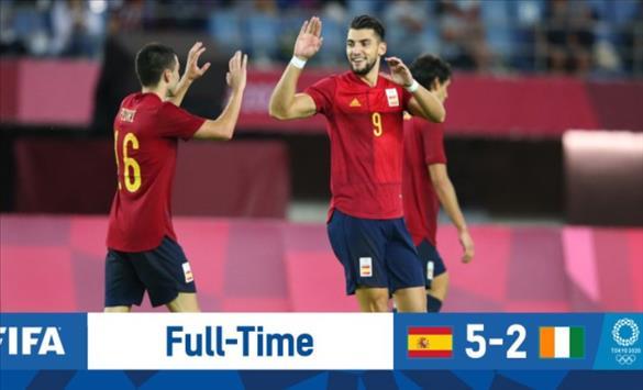Слика од ОИ: Фудбалерите на Шпанија и Јапонија обезбедија настап во полуфиналето