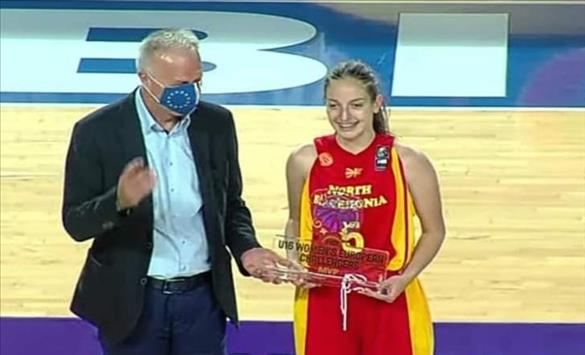 Слика од Михаела Алексовска нова спортска надеж на македонската женска кошарка
