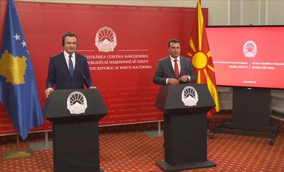 Слика од Заедничка седница на Македонската и Косовската влада, потпишани 11 договори за соработка