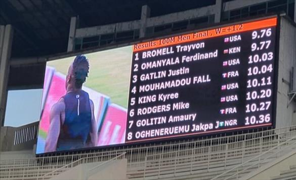 Слика од Бромел истрча најбрзо време сезонава на 100 метри