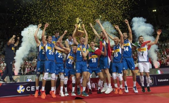 Слика од Италија ја победи Словенија во финалето на Европското првенство во одбојка