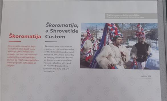 """Слика од Отворена изложбата """"Нематеријалното културно наследство на Словенија во светлото на конвенцијата на УНЕСКО"""""""