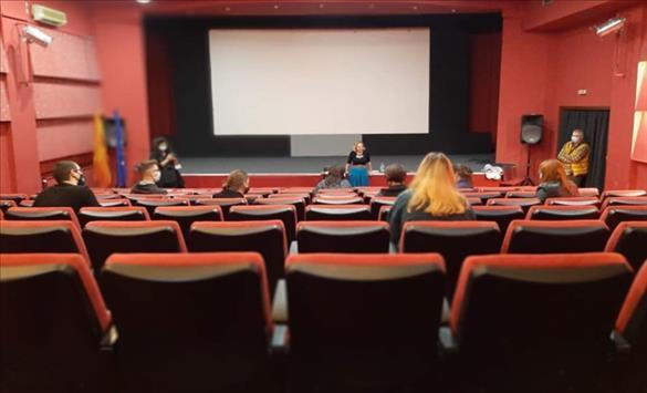 """Слика од Кинотеката го продолжува проектот """"Филмска училница"""""""