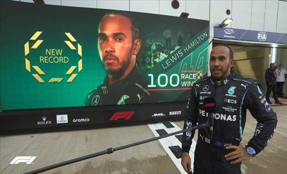 Слика од Јубилејна 100. победа во Формула 1 за Луис Хамилтон