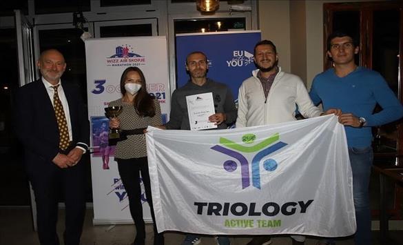 Слика од Виз Ер Скопски Маратон ги додели наградите за тим билдинг трката и штафетниот маратон– ЕУ за спорт