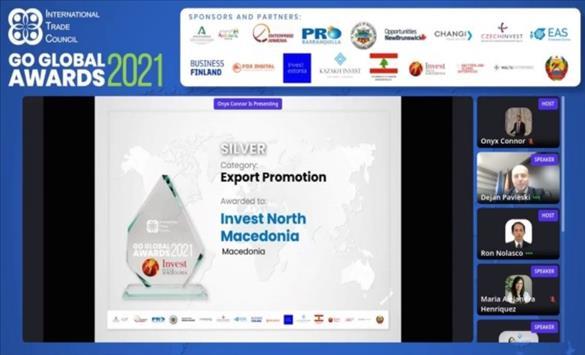 Слика од Првпат награда за Invest North Macedonia од Меѓународниот трговски совет од Вашингтон