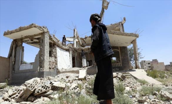Слика од Меѓународната коалиција тврди дека убила повеќе од 160 Хути во близина на Мариб