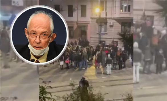 Слика од Лончар ги нарече дрскост протестите на граѓаните на Белград и Ниш пред домот на д-р Кон и други здравствени лица