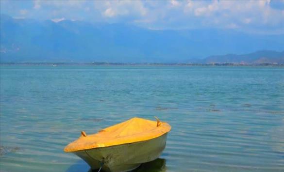 Слика од Намален водостојот на Дојранското Езеро