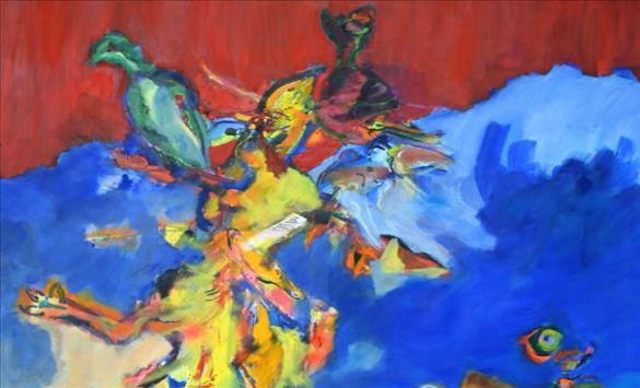 """Слика од """"Вон боите"""" – изложба на Висар Мулиќи во Чифте амам"""
